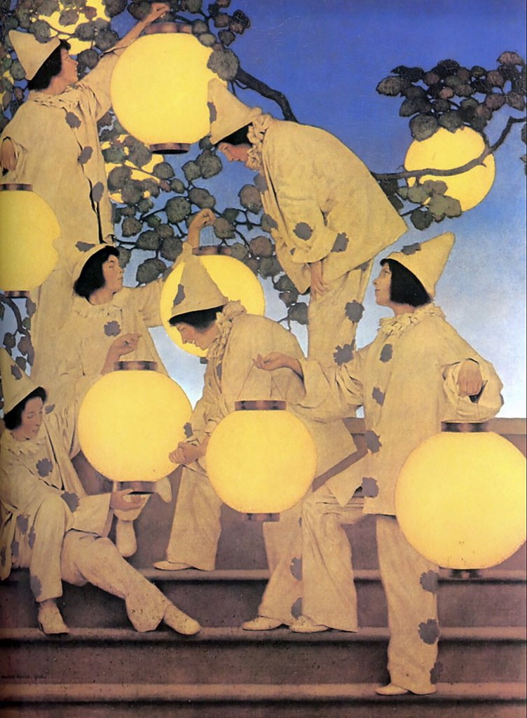 The Lantern Bearers by Maxfield Parrish