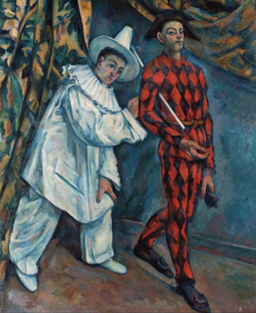 Pierrot & Harlequin by Cezanne